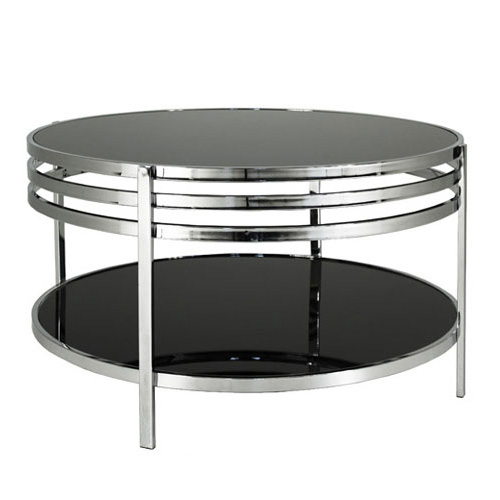Lucca soffbord svart glas krom 2290 kr Trendrum se