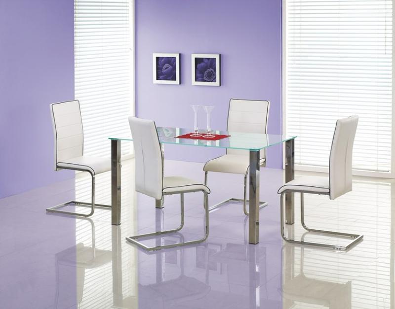 Arely bord transparent med vita rektanglar 1795 kr Trendrum se