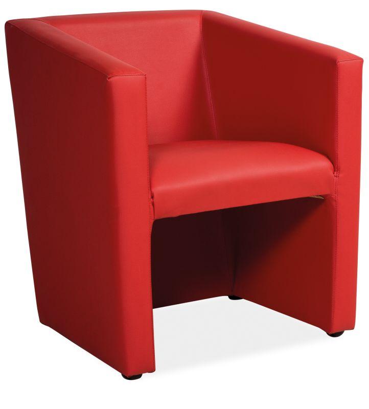 Bixby clubfåtölj Röd (konstskinn) 1390 kr Trendrum se