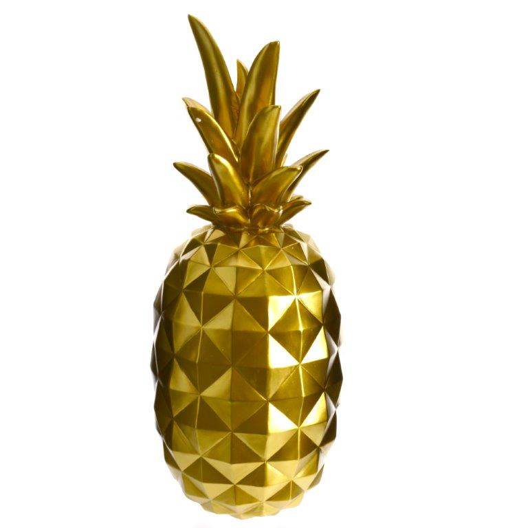 Ananas dekoration stor gold 495 kr for Ananas dekoration