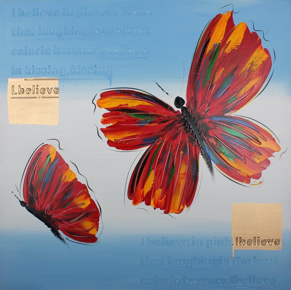 Tavla oljemålning Fjärilar 599 kr Trendrum se