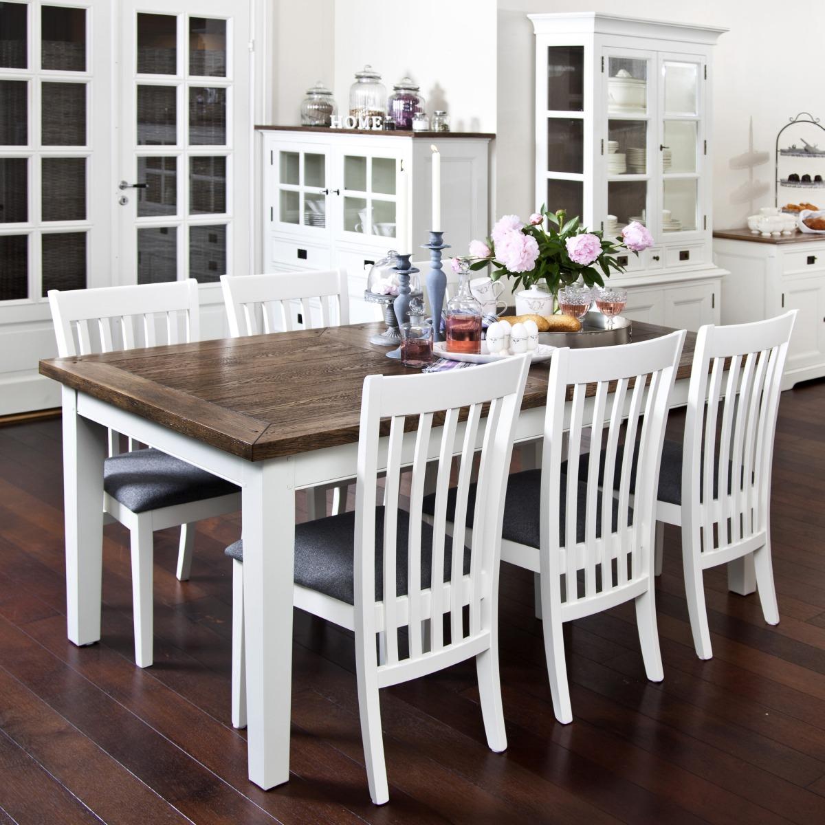 k?k ek och vitt  med butterflyskiva Vit ek + stolar 11795 kr