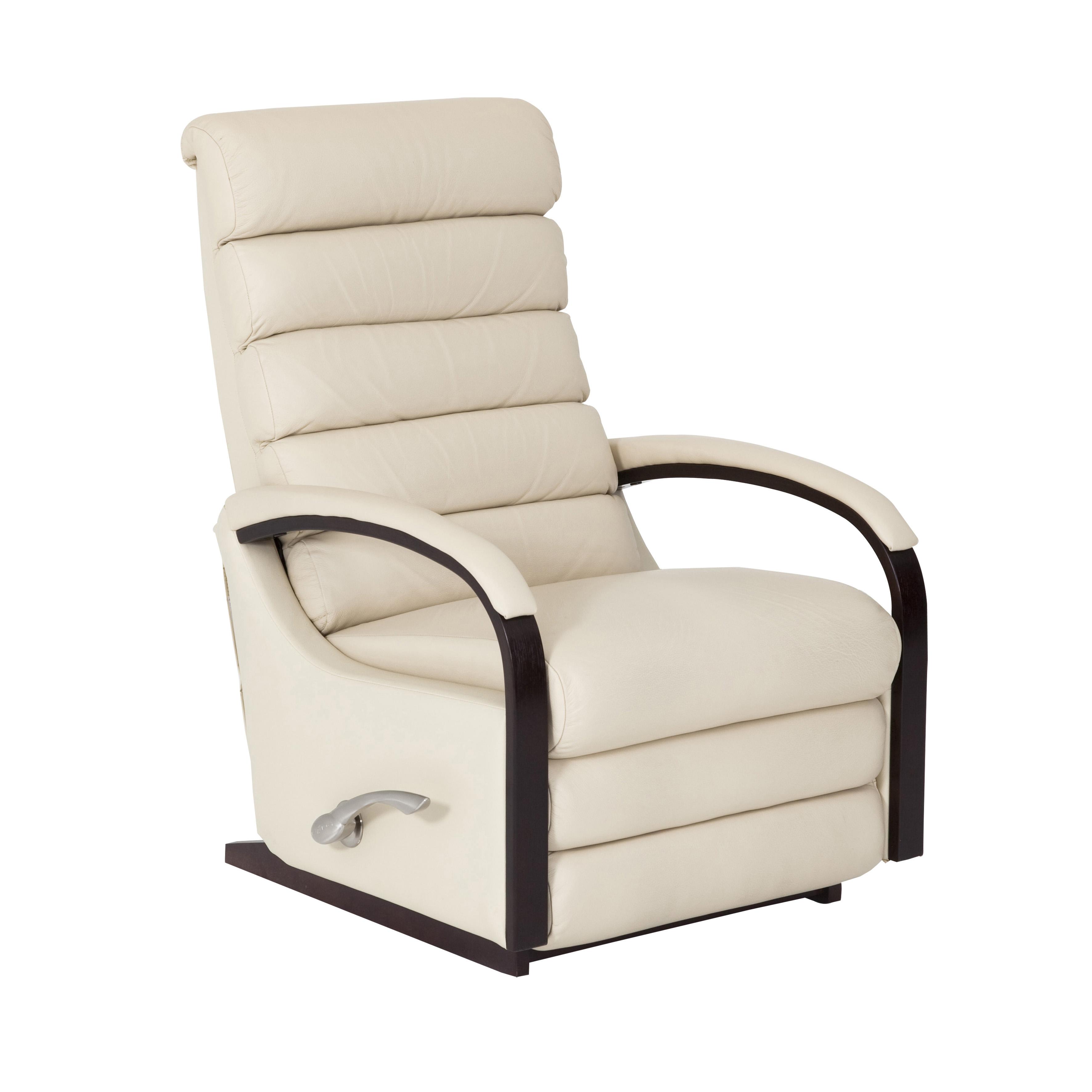 Lazboy NORSCA reclinerfåtölj skinn pvc Cremevit metall 9295 kr Trendrum se