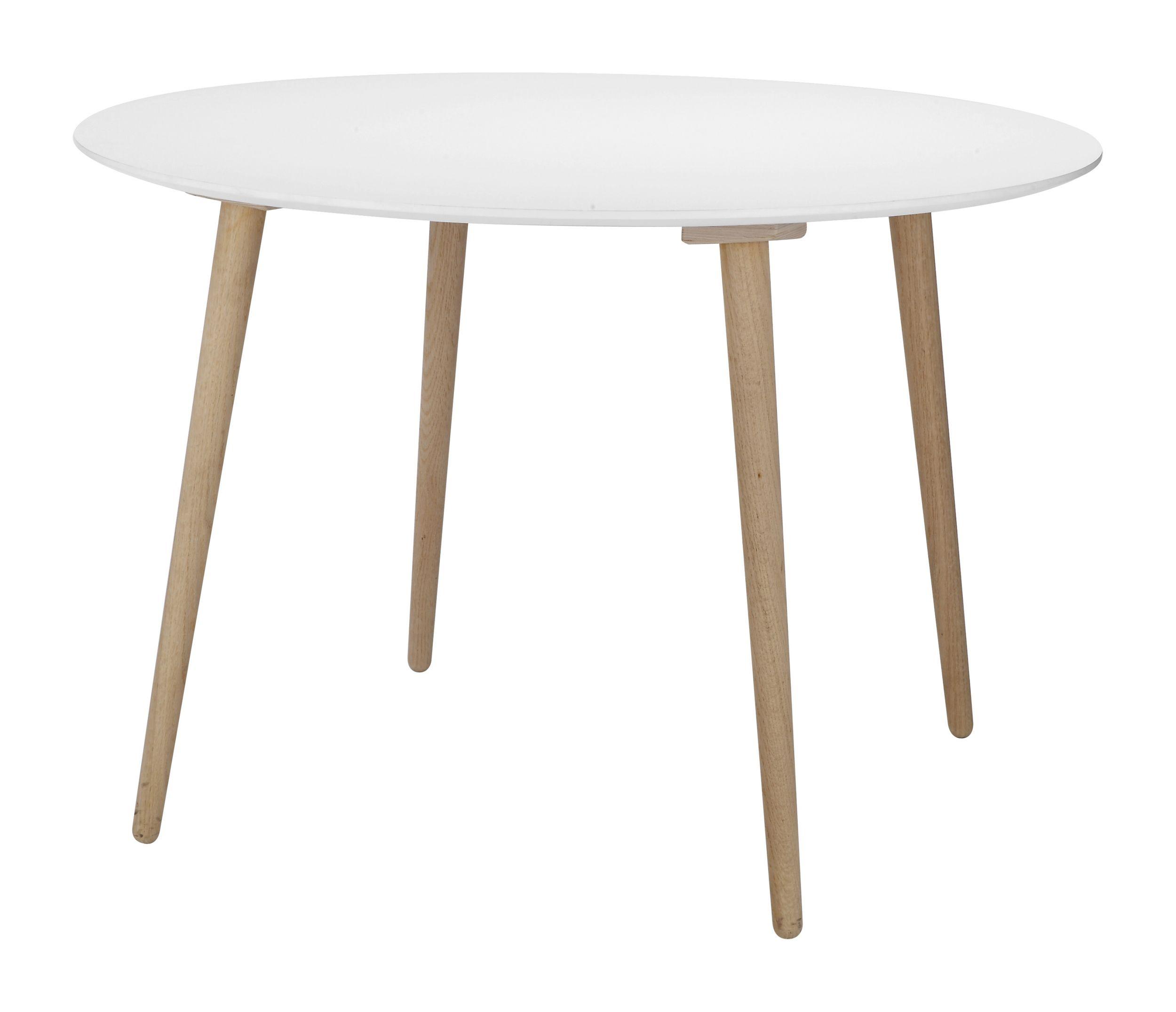 Runt matbord vit finns på pricepi.com.