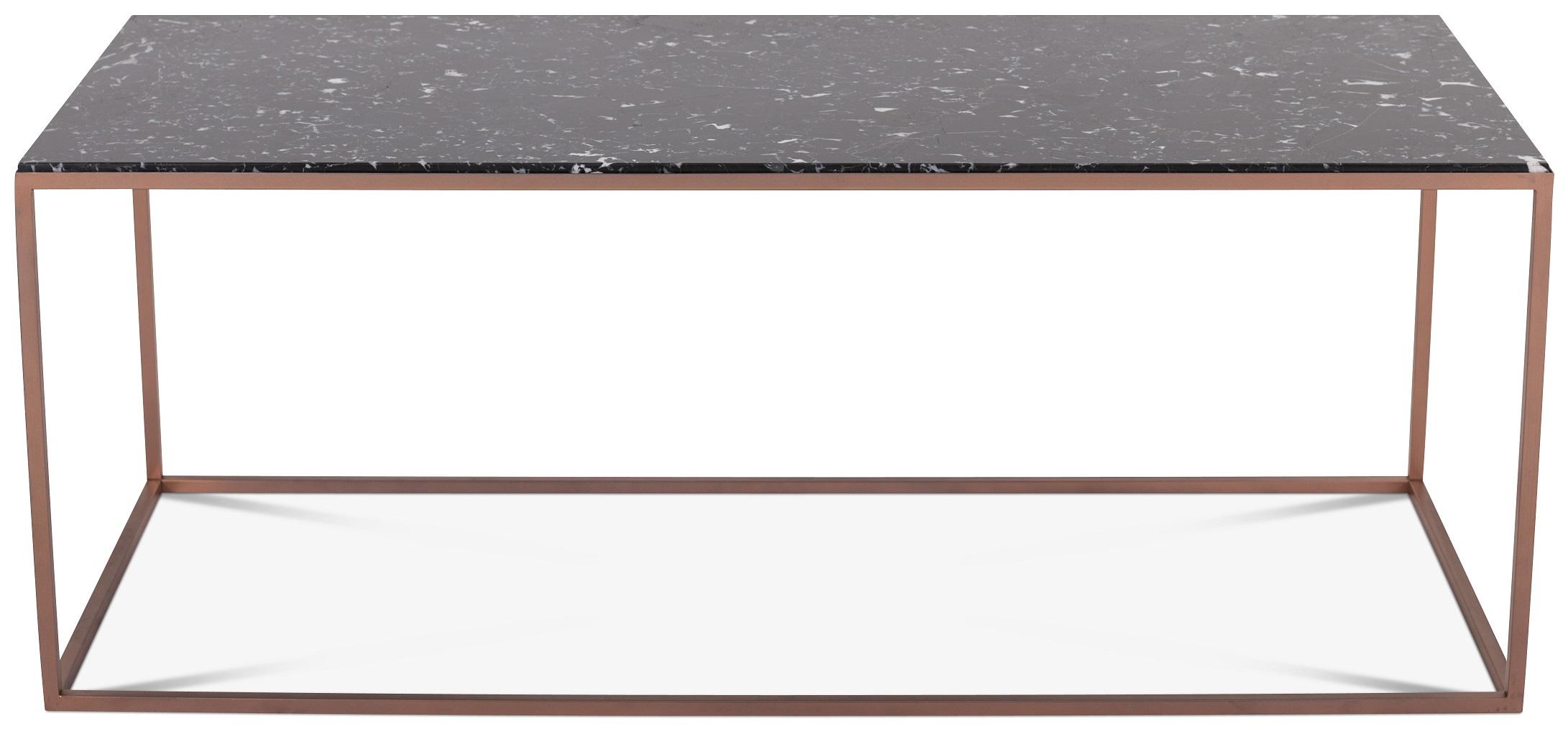 Carrera soffbord 125 cm Svart Marmor Koppar 3695 kr Trendrum se