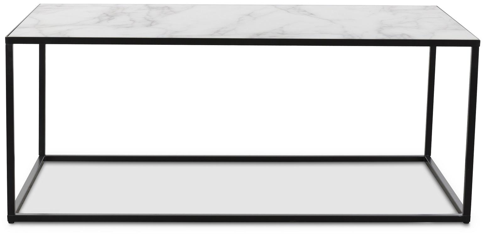Sevilla soffbord rektangulärt Svart Marmorimitation 1290 kr Trendrum se