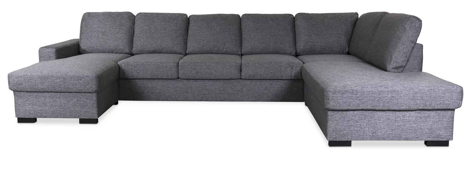 Zack dubbeldivan soffa medöppetavslut höger Grå 6990
