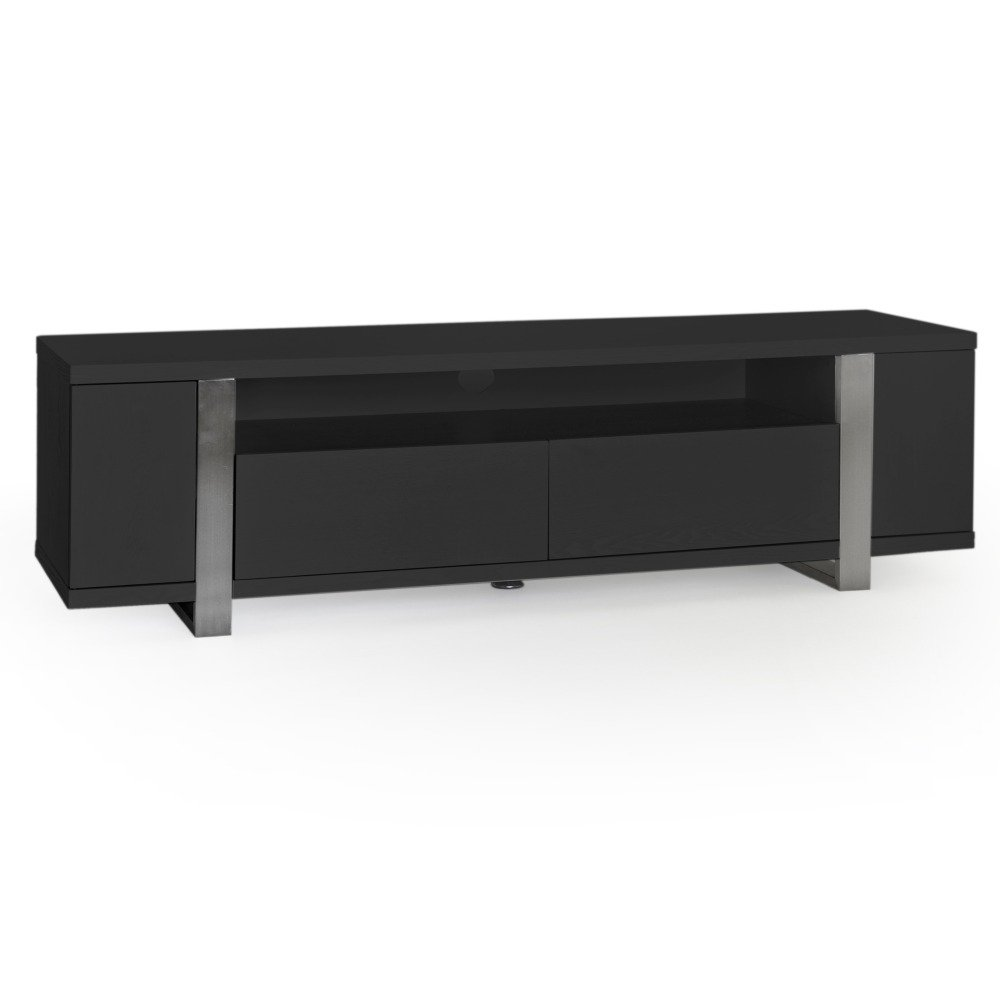 steel tv b nk 160 svart 4295 kr. Black Bedroom Furniture Sets. Home Design Ideas