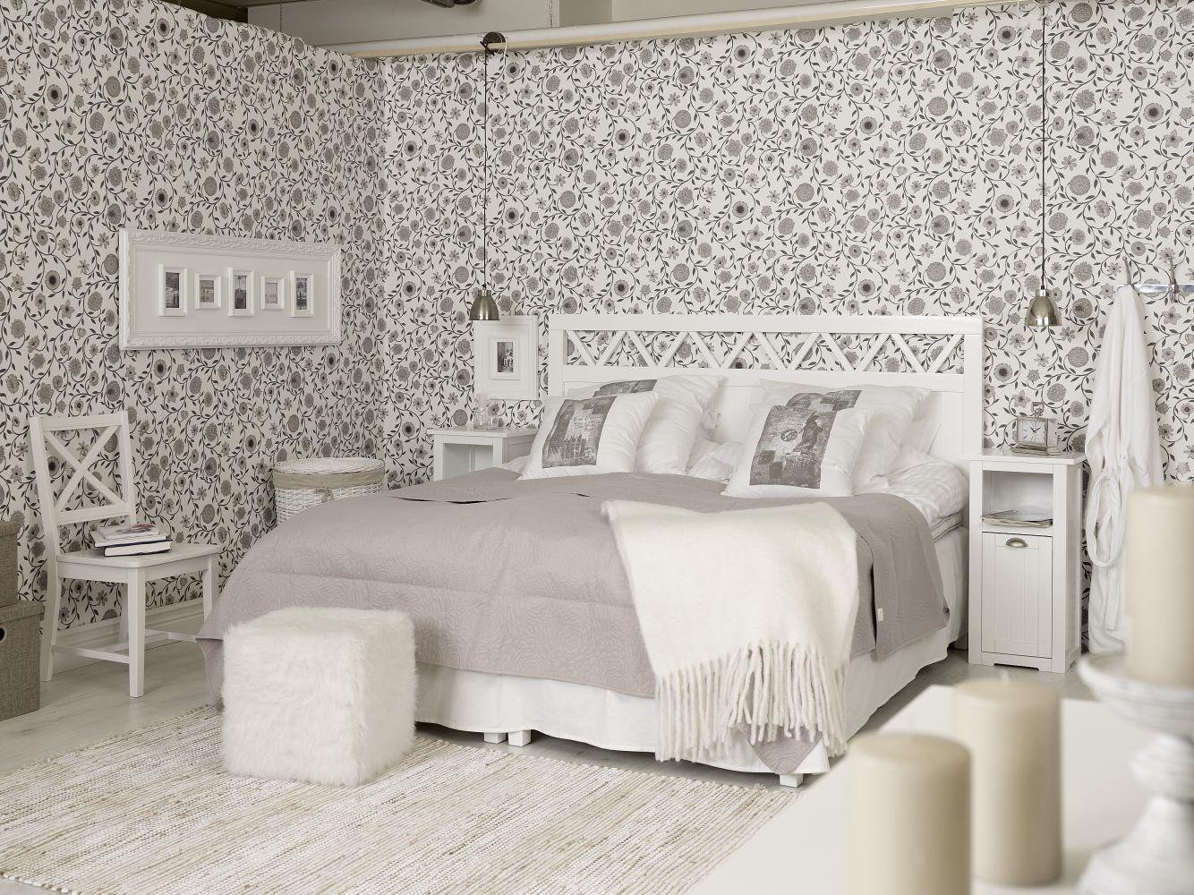 Splitter nya Vilma sänggavel till 180cm säng - vit - 2390 kr - Trendrum.se PC-98
