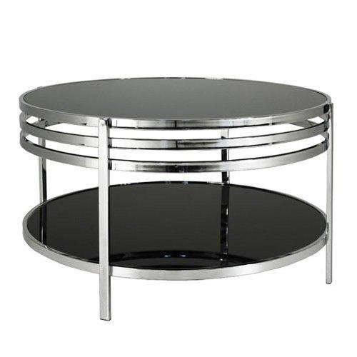 Fantastisk Lucca soffbord svart glas/krom - 2290 kr - Trendrum.se TP-05