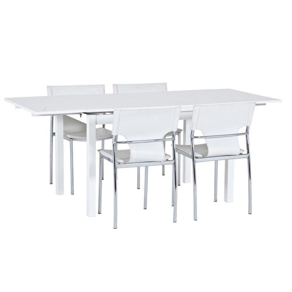 Hamburg bord med 2 klaffar 120190cm Vit 2895 kr