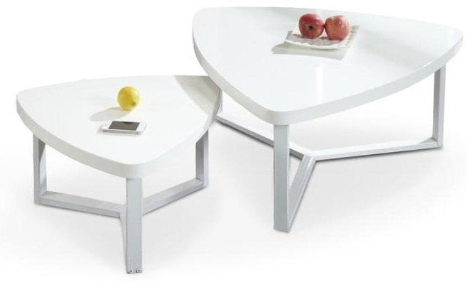 Soffbord soffbord satsbord : No 10:2 Satsbord 2 st bord - Vit/stål - 3595 kr - Trendrum.se