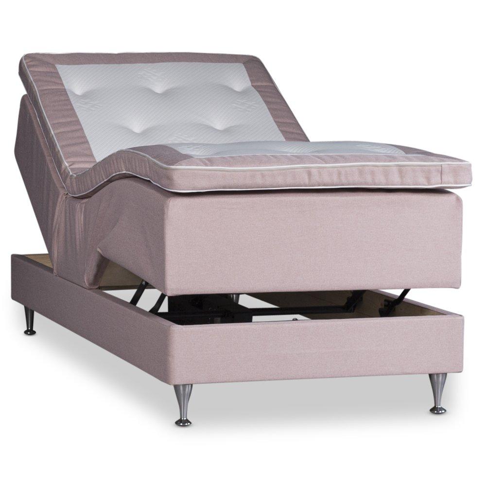 Splitter nya Ställbar säng Särö Deluxe 90x200cm Pocket / Pocket - Rosa - 10990 OD-86